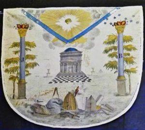 Freimaurer-Teppich mit Symbolen
